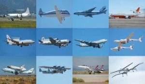 Numerous airplanes